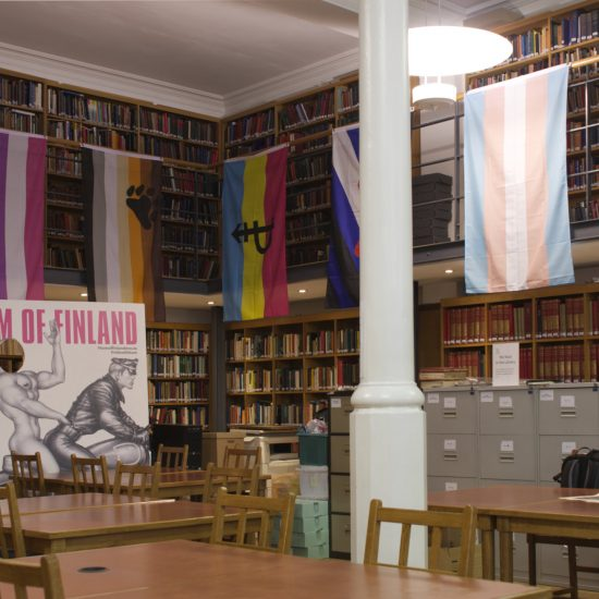 The interior of the research Library at the Bishopsgate Institute, London