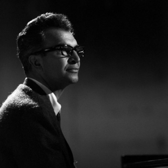American jazz pianist and composer Dave Brubeck plays piano on BBC2-TV Jazz 625, 09 June 1964