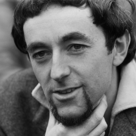A close-up of poet John Esam during a press conference at the Albert Memorial for The International Poetry Incarnation, photographed the day before the event at the Royal Albert Hall, on June 10 1965
