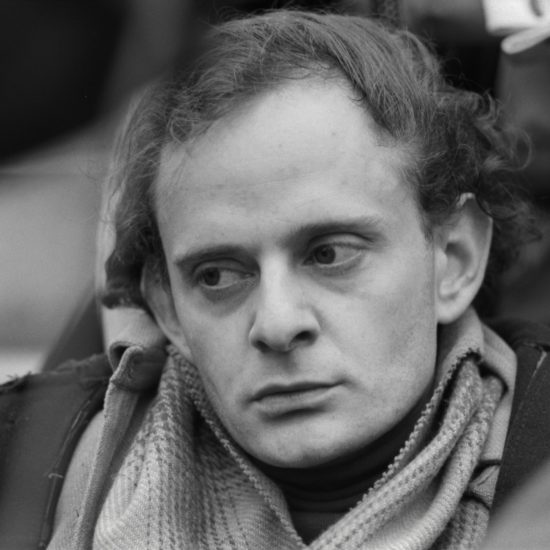 A close-up of poet Harry Fainlight during a press conference at the Albert Memorial for The International Poetry Incarnation, photographed the day before the event at the Royal Albert Hall, London, on June 10 1965