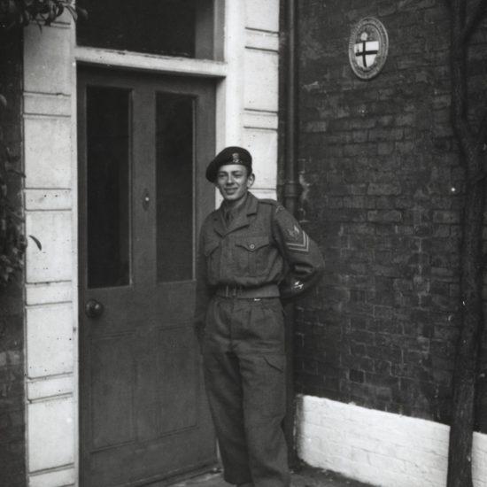 John 'Hoppy' Hopkins in Felsted Combined Cadet uniform, circa 1950's