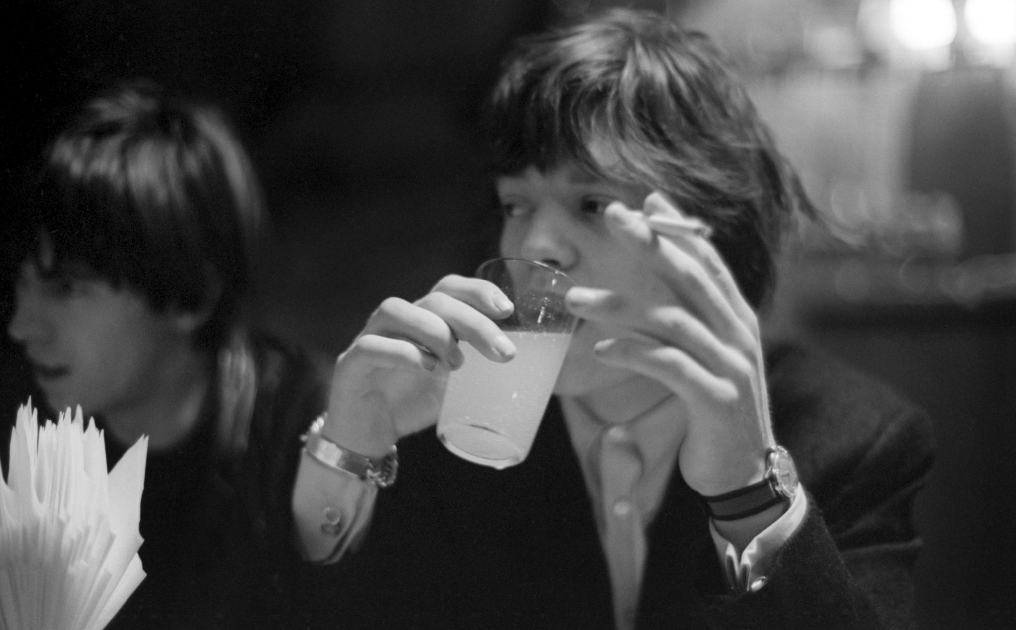 Mick Jagger with cigarette