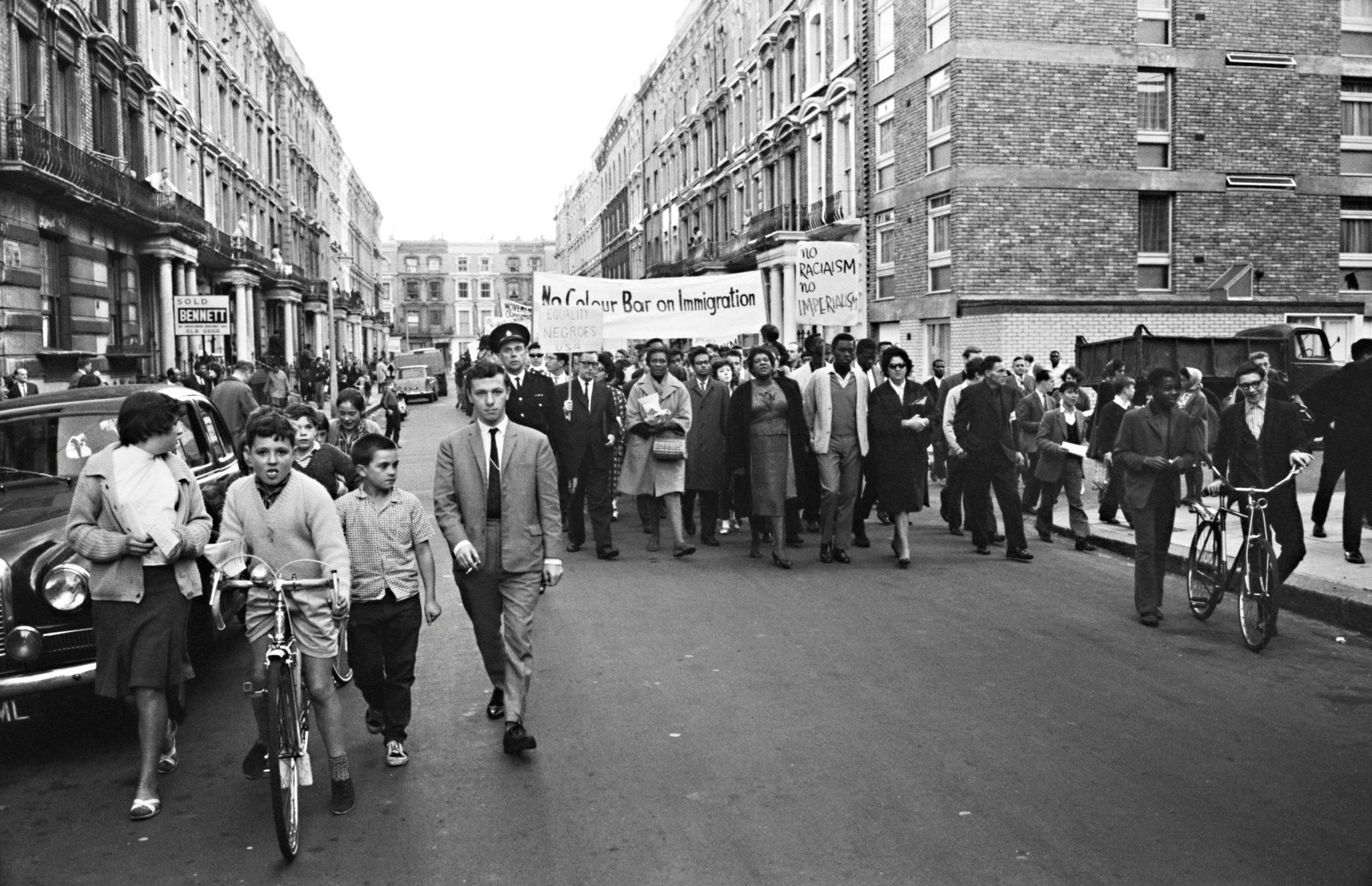Claudia Jones marches in West London