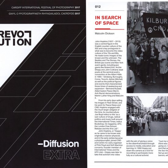 Exhibition catalogue for 'Revolution' at Diffusion, Cardiff International Festival of Photography, 01-31 May 2017