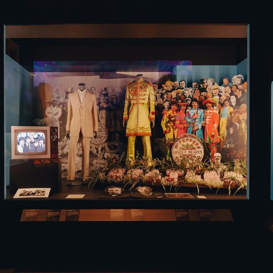 Exhibition image from You Say You Want A Revolution? Records and Rebels 1966-1970 exhibition at Melbourne Museum, Melbourne, 25 April - 25 August 2019