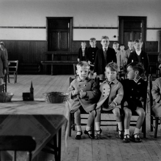 Children attend Sunday school in their parish church situated in Kinglassie mining village, Fife, Scotland, circa 1963