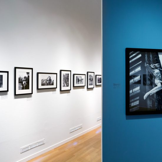 Exhibition shot of John 'Hoppy' Hopkins photograph of the Beatles, in the Swinging Sixties photography exhibition at the FOAM GAllery, Amsterdam, June 2015