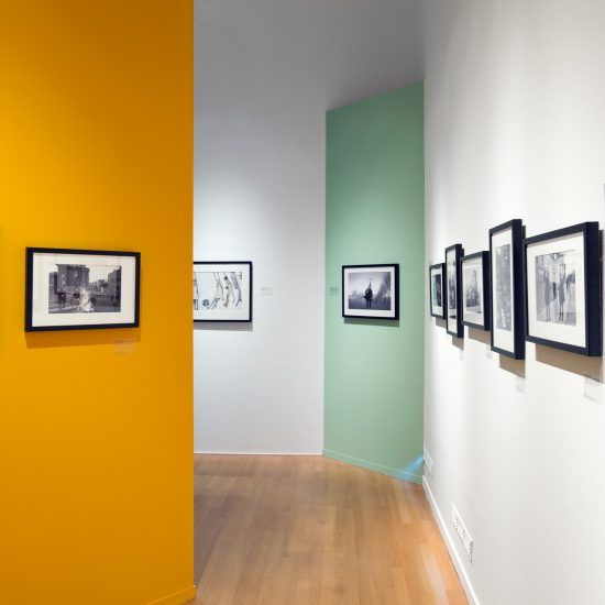 Exhibition shot of various John 'Hoppy' Hopkins photographs, in the Swinging Sixties photography exhibition at the FOAM GAllery, Amsterdam, June 2015