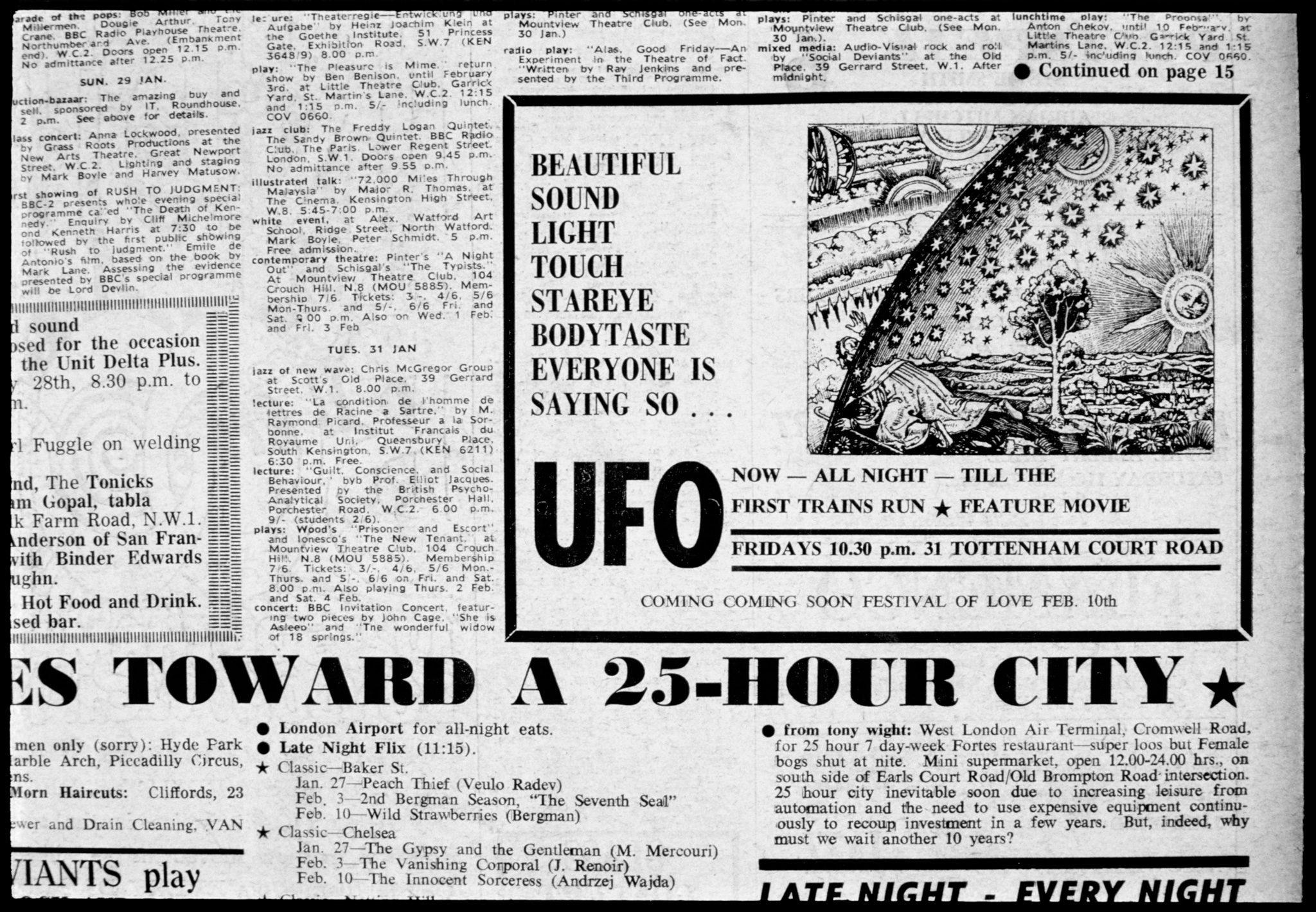 UFO Advert