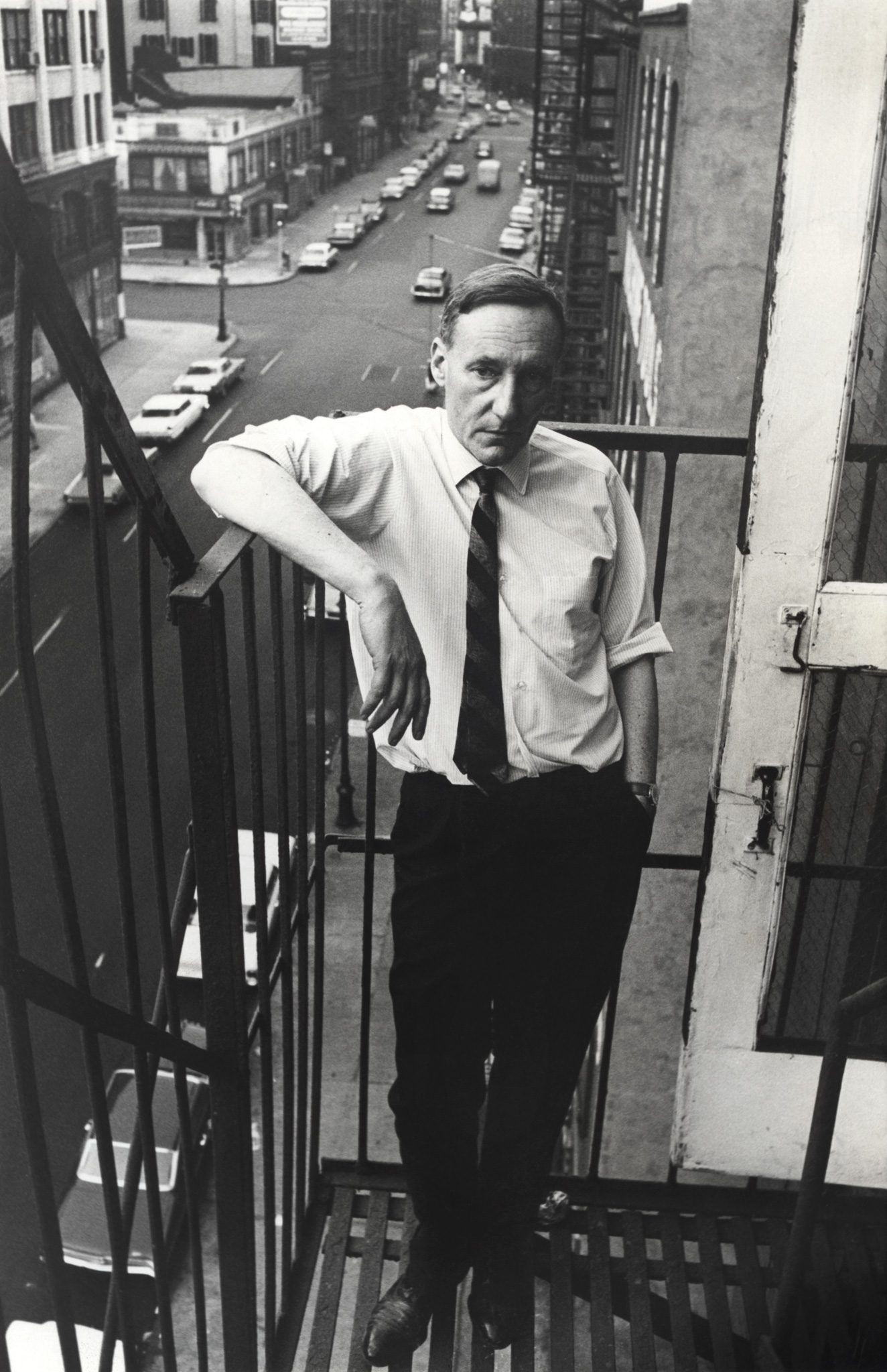 William S Burroughs stands