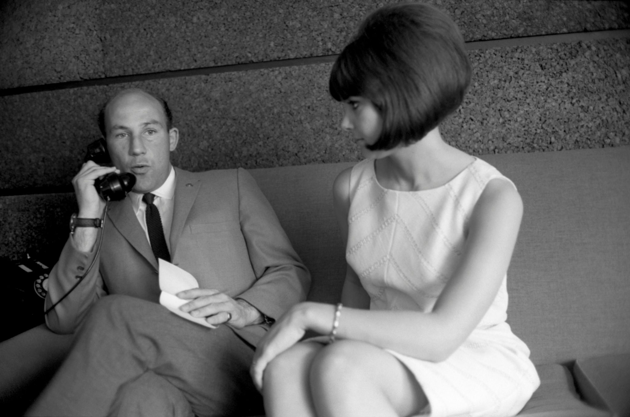 Stirling Moss and wife